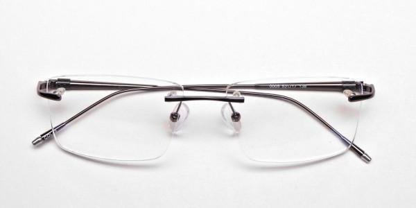 Rimless Glasses in Gunmetal for Men & Women - 5
