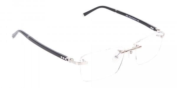 Silver Rimless Frame Ultralight, Online UK -2