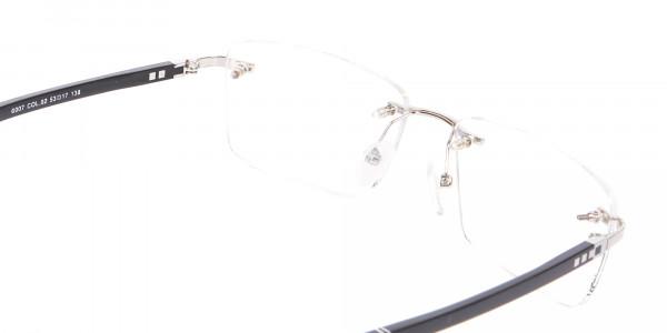 Silver Rimless Frame Ultralight, Online UK -5