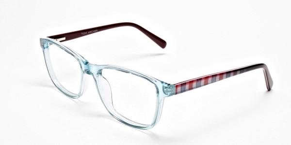 Wayfarer glasses in Powder Blue for Men & Women -3