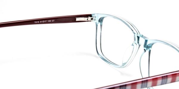 Wayfarer glasses in Powder Blue for Men & Women -5
