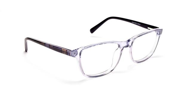 Blue Transparent Glasses in Wayfarer for  Men & Women -1