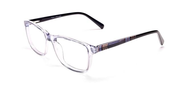 Blue Transparent Glasses in Wayfarer  for Men & Women -2
