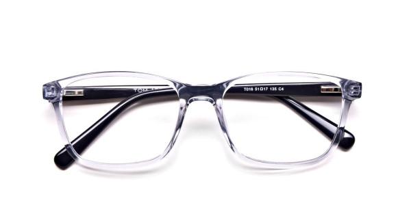Blue Transparent Glasses in Wayfarer  for Men & Women -4