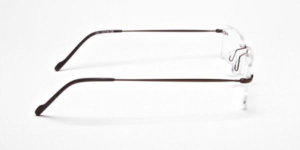 Rimless Glasses in Brown for Men & Women- 6