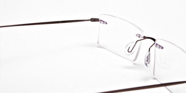 Rimless Glasses in Brown for Men & Women- 4