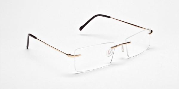 Rimless Glasses in Gold for Men & Women - 2
