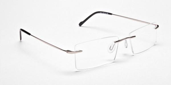 Rimless Glasses in Silver for Men & Women - 2