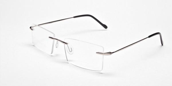 Rimless Glasses in Silver for Men & Women - 3