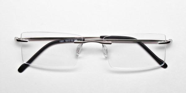 Rimless Glasses in Silver for Men & Women - 6