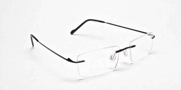Rimless Glasses in Black for Men & Women - 2