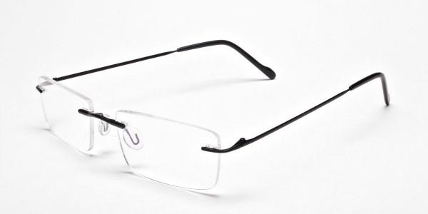 Rimless Glasses in Black for Men & Women - 3