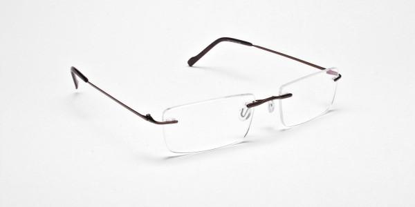 Rimless Glasses in Brown for Men & Women - 2
