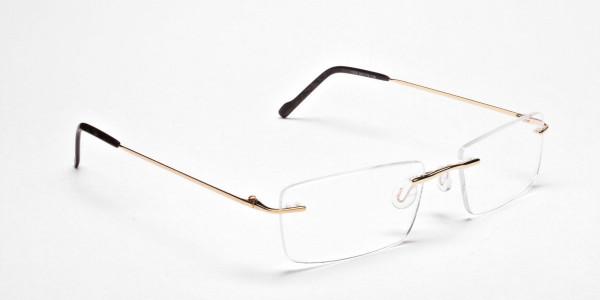 Rimless Glasses in Gold for Men & Women -2