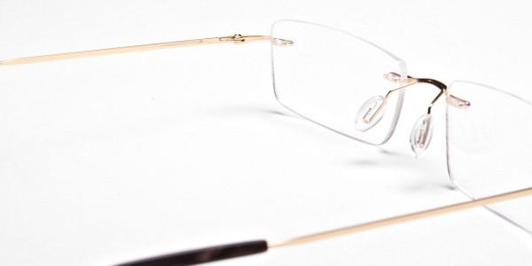 Rimless Glasses in Gold for Men & Women -5
