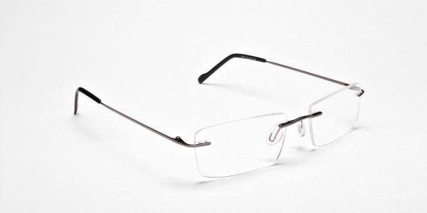 Rimless Glasses in Gunmetal - 2