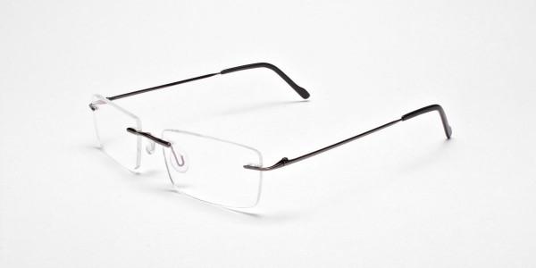 Rimless Glasses in Gunmetal - 3