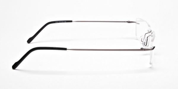 Rimless Glasses in Gunmetal - 4
