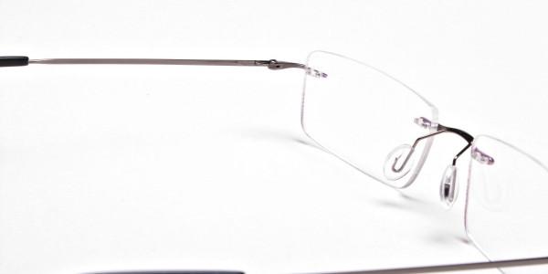 Rimless Glasses in Gunmetal - 5