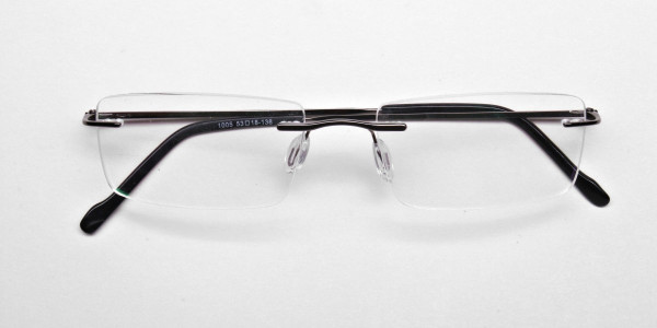 Rimless Glasses in Gunmetal - 6