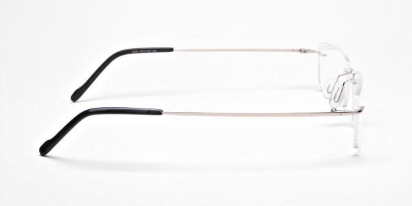 Rimless Glasses in Silver for Men & Women - 4