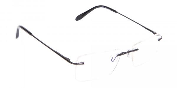 Classic Designer Black Rimless Glasses-2