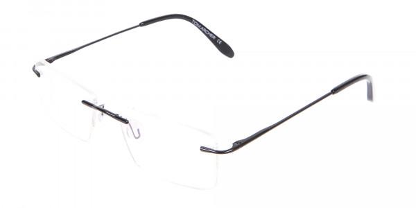 Classic Designer Black Rimless Glasses-3