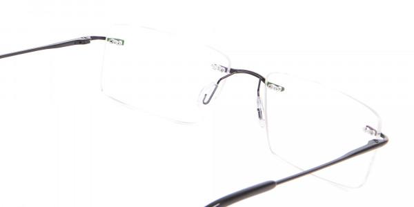 Classic Designer Black Rimless Glasses-5
