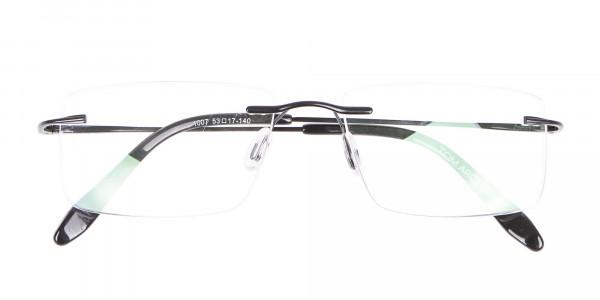 Classic Designer Black Rimless Glasses-6