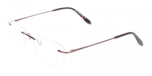 Invisible Brown Rimless Frames Online UK -3
