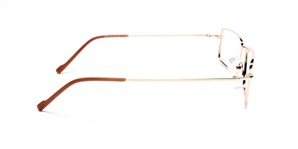 Rectangular Glasses in Gold, Eyeglasses - 4