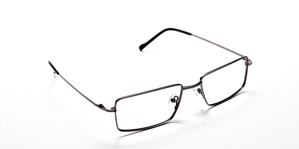 Rectangular Glasses in Gunmetal  - 2