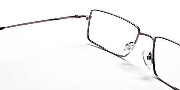 Rectangular Glasses in Gunmetal - 5