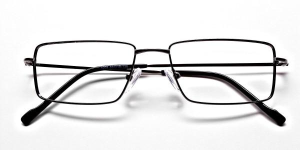 Rectangular Glasses in Gunmetal - 6