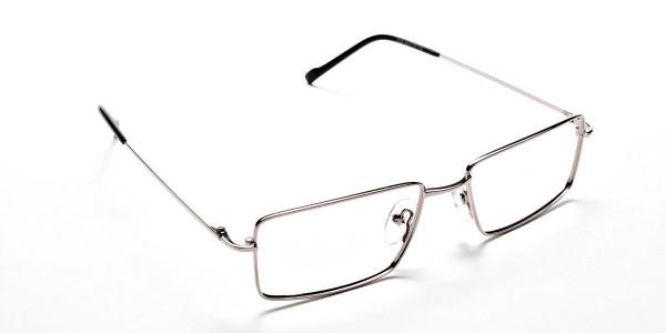 Rectangular Glasses in Silver, Eyeglasses -2