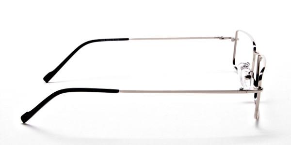 Rectangular Glasses in Silver, Eyeglasses -4