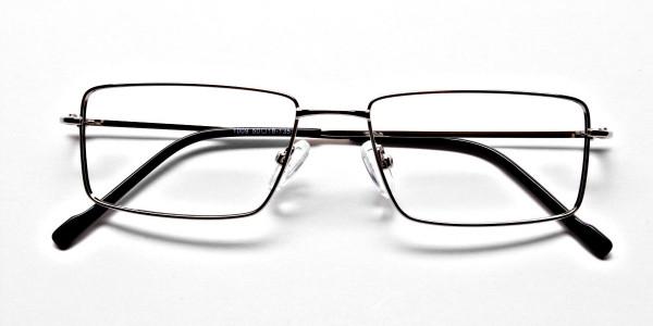 Rectangular Glasses in Silver, Eyeglasses -6