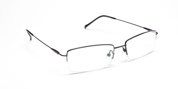 Sleek - Black Rectangular Glasses -2