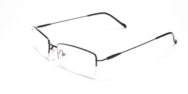 Sleek - Black Rectangular Glasses -3