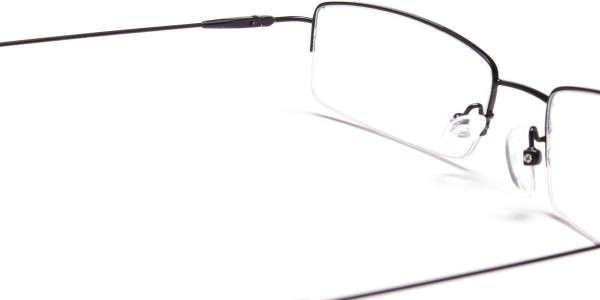 Sleek - Black Rectangular Glasses -5