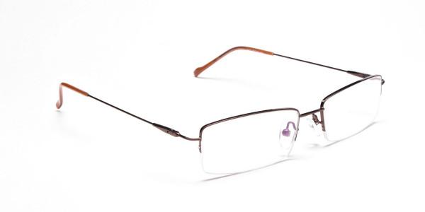 Smart Brown Rectangular Glasses -2