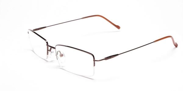 Smart Brown Rectangular Glasses -3