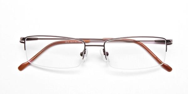 Smart Brown Rectangular Glasses -5