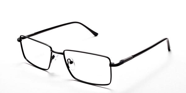Black Full Rim Metal Glasses - 3