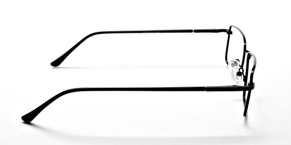 Black Full Rim Metal Glasses - 4