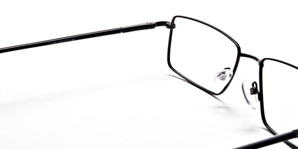Black Full Rim Metal Glasses - 5