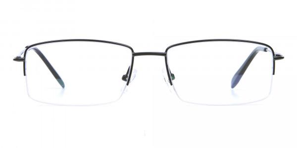 Black Half Rim Glasses- 1