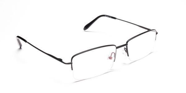 Black Half Rim Glasses- 2