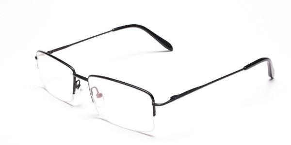 Black Half Rim Glasses- 3