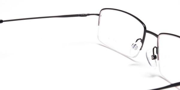 Black Half Rim Glasses - 5